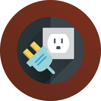 cartoon outlet and plug