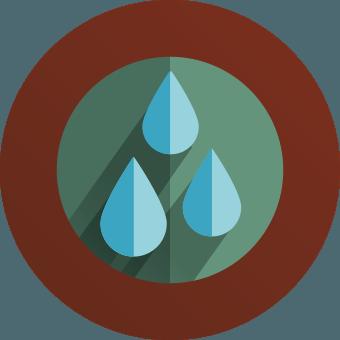 cartoon water droplets